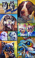 Pet portrait commissions by artist Lori Cusick.