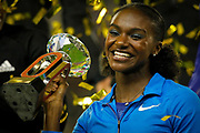 Dina Asher-Smith (Great Britain) winner of the Women's 200 metres during the IAAF Diamond League event at the King Baudouin Stadium, Brussels, Belgium on 6 September 2019.