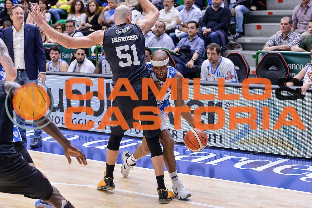 DESCRIZIONE : Beko Legabasket Serie A 2015- 2016 Dinamo Banco di Sardegna Sassari - Pasta Reggia Juve Caserta<br /> GIOCATORE : Josh Akognon Tommaso Ingrosso<br /> CATEGORIA : Palleggio Penetrazione Fallo<br /> SQUADRA : Dinamo Banco di Sardegna Sassari<br /> EVENTO : Beko Legabasket Serie A 2015-2016<br /> GARA : Dinamo Banco di Sardegna Sassari - Pasta Reggia Juve Caserta<br /> DATA : 03/04/2016<br /> SPORT : Pallacanestro <br /> AUTORE : Agenzia Ciamillo-Castoria/L.Canu