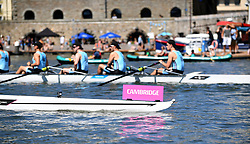 The Cambridge boat before the race against Newcastle during the Power 8 Sprints at Bristol Harbour, Bristol. PRESS ASSOCIATION Photo. Picture date: Sunday July 22, 2018. Photo credit should read: Simon Galloway/PA Wire