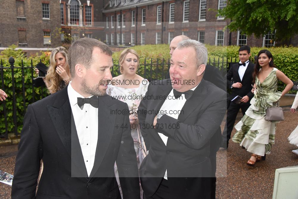 Peter Phillips and David Yarrow at the Tusk Ball at Kensington Palace, London, England. 09 May 2019.