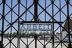 "July 21, 2017 - Dachau, bavaria, germany - (photo: Sachelle Babbar) The head of the SPD and Kanzlerkandidat (candidate for the Chancellorship of Germany) visited the Dachau concentration camp grounds in order to pay respects on behalf of his SPD party to the victims of National Sozialism.  Schulz then presented a memorial plaque (followed by a moment of silence) with inscriptions honoring the victims and those who defend democracy. At the end of the tour, a wreath was laid down at the International Memorial by Schulz, Markus Rinderspacher, Uli Grötsch, and Michael Schrodi. Other speakers included Dr. Gabrielle Hammermann of the Dachau Memorial..The Dachau Concentration Camp Memorial Grounds lie approximately 20km north of Munich.  The camp eventually came a ""model"", which other camps were designed after.  It was in operation from March 1933- April 1945 and 31,951 were reported as killed there.  Dachau recently received international attention when the iconic ""Arbeit macht Frei"" gate was stolen in 2014, then recovered in Norway in 2016, and returned to the grounds in Feb. 2017. (Credit Image: © Sachelle Babbar via ZUMA Wire)"