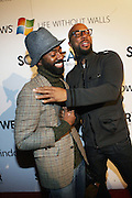 l to r: Twilight Tone and Common at the Common Celebration Capsule Line Launch with Softwear by Microsoft at Skylight Studios on December 3, 2008 in New York City..Microsoft celebrates the launch of a limited-edition capsule collection of SOFTWEAR by Microsoft graphic tees designed by Common. The t-shirt  designs. inspired by the 1980's when both Microsoft and and Hip Hop really came of age, include iconography that depicts shared principles of the technology company and the Hip Hop Star.