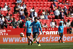 February 23, 2019 - Seville, Madrid, Spain - Lionel Messi (FC Barcelona) seen warming up before the La Liga match between Sevilla FC and Futbol Club Barcelona at Estadio Sanchez Pizjuan in Seville, Spain. (Credit Image: © Manu Reino/SOPA Images via ZUMA Wire)