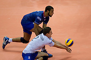 Jenia Grebennikov from France receives the ball during the 2013 CEV VELUX Volleyball European Championship match between France and Slovakia at Ergo Arena in Gdansk on September 20, 2013.<br /> <br /> Poland, Gdansk, September 20, 2013<br /> <br /> Picture also available in RAW (NEF) or TIFF format on special request.<br /> <br /> For editorial use only. Any commercial or promotional use requires permission.<br /> <br /> Mandatory credit:<br /> Photo by © Adam Nurkiewicz / Mediasport