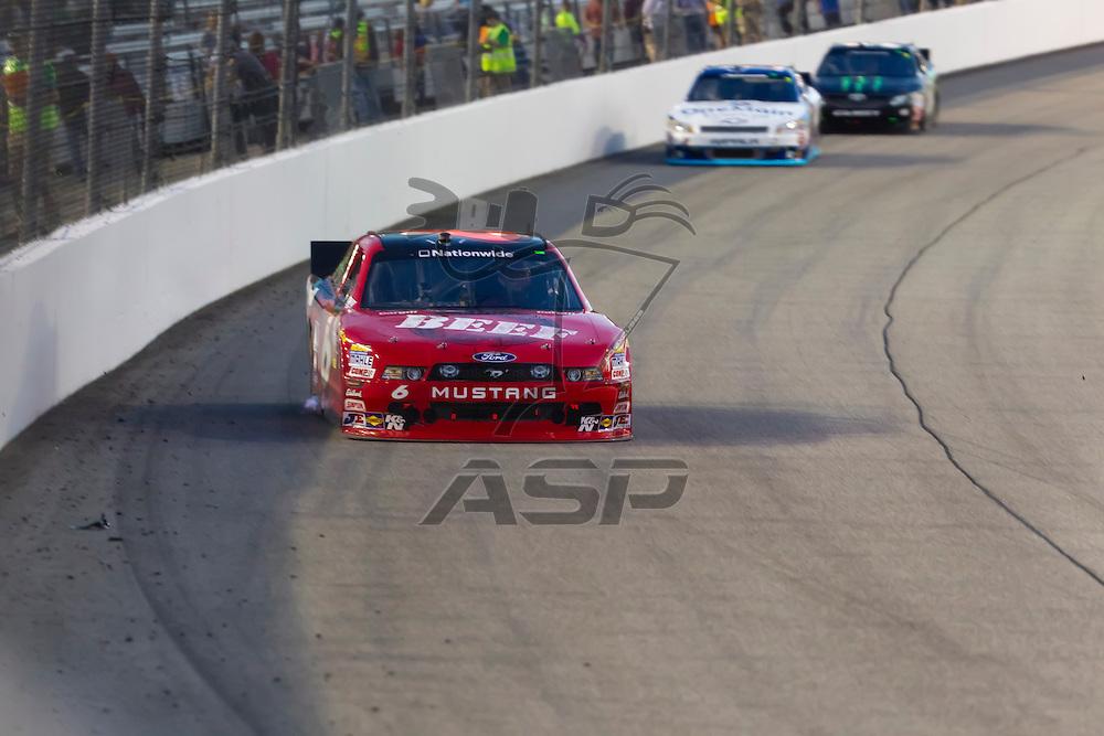 RICHMOND, VA - APR 27, 2012:  Ricky Stenhouse, Jr. (6) brings his Cargill Beef Ford through the turns during Virginia 529 College Savings 250 at the Richmond International Raceway in Richmond, NC.