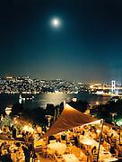 View of Bosphorus from Sunset restaurant in Ulus Park