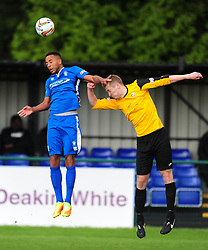 NATHAN FRATER AFC DUNSTABLE,  AFC Dunstable v Marlow FC Evo Stick League South East, Saturday 9th September 2017<br /> Score 2-1:Photo:Mike Capps