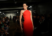The Zac Posen Spring 2015 collection is modeled during Fashion Week in New York, Monday, Sept. 8, 2014.  (AP Photo/Diane Bondareff)