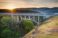 Bridge, Historic Columbia River Highway at Rowena Crest, Columbia River Gorge National Scenic Area, Oregon