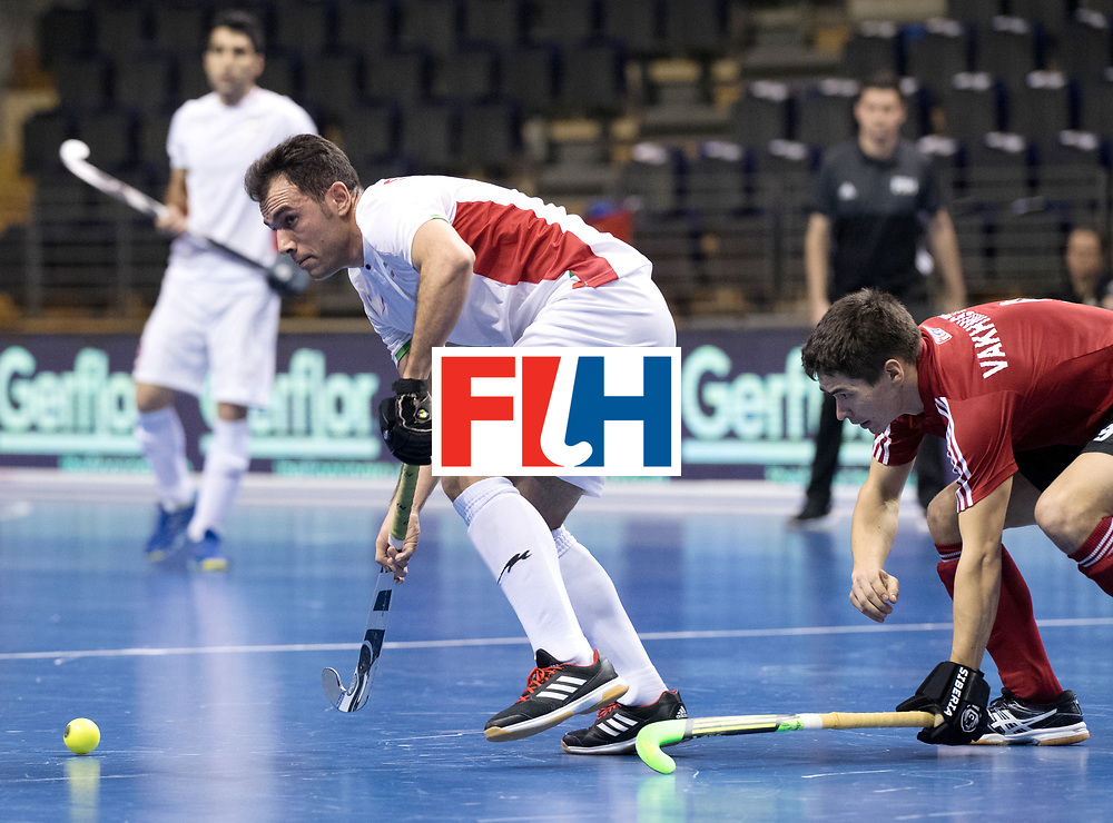 BERLIN - Indoor Hockey World Cup<br /> Men: Iran - Russia<br /> foto: NOROUZZADEH Reza.<br /> WORLDSPORTPICS COPYRIGHT FRANK UIJLENBROEK