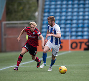 23rd September 2017, Rugby Park, Kilmarnock, Scotland; SPFL Premiership football, Kilmarnock versus Dundee; Dundee's A-Jay Leitch-Smith goes past Kilmarnock's Stuart Findlay