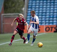 23rd September 2017, Rugby Park, Kilmarnock, Scotland; SPFL Premiership football, Kilmarnock versus Dundee; Dundee's A-Jay Leitch-Smith goes past Kilmarnock's Stuart Findlay