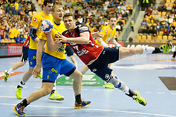 Michael V. Knudsen of SG Flensburg-Handewitt during handball match between RK Celje Pivovarna Lasko and SG Flensburg-Handewitt in the last sixteen of EHF Champions League 2013/14 on March 23, 2014 in Dvorana Zlatorog, Celje, Slovenia. Photo by Urban Urbanc / Sportida