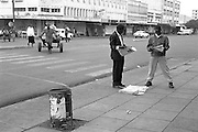 Downtown Kisumu, Kenya's second city is bustling during the weekdays and Saturday but on Sunday things slow down.  Newspapers are very popular, are free to express various political points of view and the business is very competitive.
