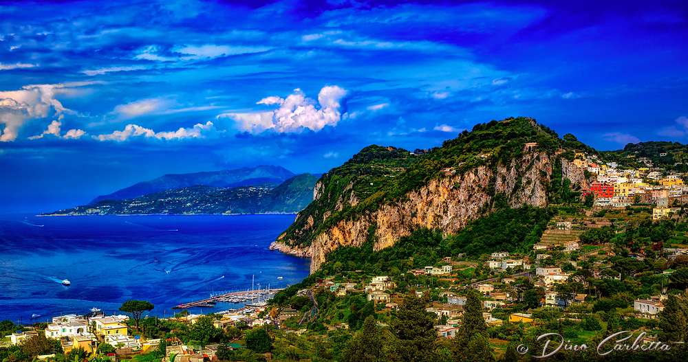 """A panoramic view of the majestic island of Capri""…<br />