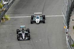 May 24, 2018 - Montecarlo, Monaco - Nico Rosberg with Mercedes F1 W07 Hybrid of 2016 and  Keke Rosberg with the TAG Williams Team  during the Monaco Formula One Grand Prix  at Monaco on 24th of May, 2018 in Montecarlo, Monaco. (Credit Image: © Xavier Bonilla/NurPhoto via ZUMA Press)