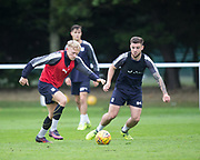 Dundee new boy A-Jay Leitch-Smith runs at Kerr Waddell during Dundee training at the University Grounds, Riverside, Dundee<br /> <br />  - &copy; David Young - www.davidyoungphoto.co.uk - email: davidyoungphoto@gmail.com
