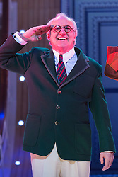 © Licensed to London News Pictures. 30/01/2015. London, England. Pictured: Simon Rouse as Elisha Whitney. The Sheffield Crucible Theatre production of Cole Porter's classic musical comedy, Anything Goes, opens at the New Wimbledon Theatre, London, before embarking on a UK tour. Opening on 29 January and running to 7 February 2015, the musical is directed by Daniel Evans with Debbie Kurup as Reno and Matt Rawl as Billy, featuring Hugh Sachs, Simon Rouse and Jane Wymark. Photo credit: Bettina Strenske/LNP
