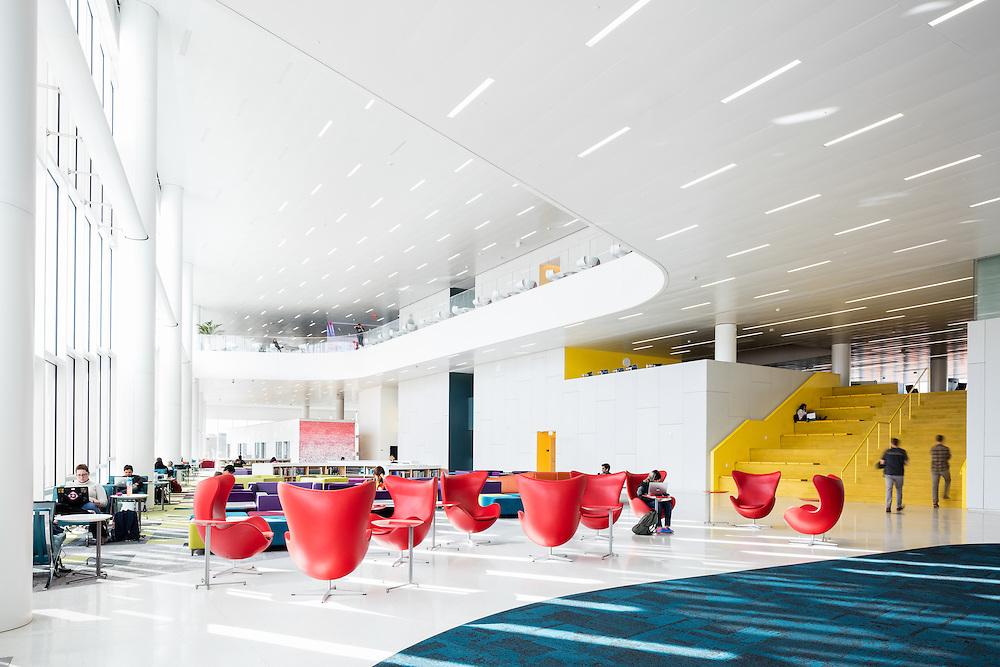 James B. Hunt Library, North Carolina State University  Raleigh, North Carolina   Architects: Snøhetta + Clark Nexsen   Engineer: Stewart Inc.
