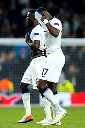 Moussa Sissoko of Tottenham Hotspur and Davinson Sanchez of Tottenham Hotspur cut dejected figures - Mandatory by-line: Robbie Stephenson/JMP - 30/04/2019 - FOOTBALL - Tottenham Hotspur Stadium - London, England - Tottenham Hotspur v Ajax - UEFA Champions League Semi-Final 1st Leg