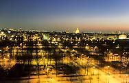 France. Paris. elevated view. Paris, rooftops , tuleries garden and the invalides,  view from  the hotel Meurice      <br /> <br /> Paris les toits , le jardin des tuileries et le dome des invalides. vu depuis l'hotel Meurice