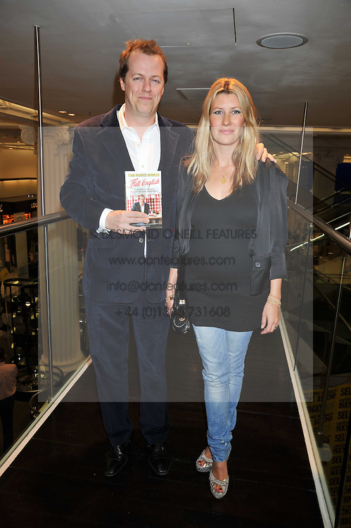 TOM & SARA PARKER BOWLES at the launch of Tom Parker Bowles's new book 'Full English' held in the Gallery Restaurant, Selfridges, Oxford Street, London on 9th September 2009.