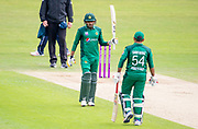 Picture by Allan McKenzie/SWpix.com - 19/05/2019 - Sport - Cricket - 5th Royal London One Day International - England v Pakistan - Emerald Headingley Cricket Ground, Leeds, England - Pakistan's Babar Azam celebrates his half century against England.