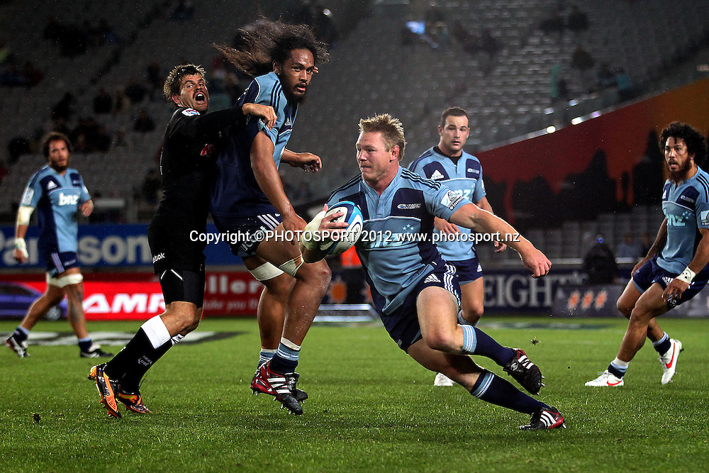 Blues' Tom McCartney in action. Super Rugby rugby union match, Blues v Sharks at Eden Park, Auckland, New Zealand. Friday 13th April 2012. Photo: Anthony Au-Yeung / photosport.co.nz