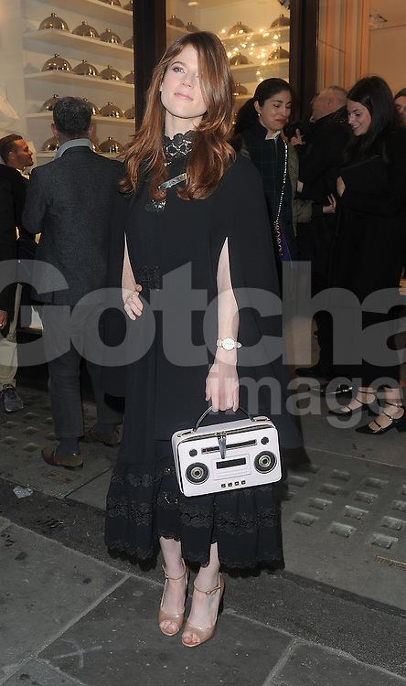 Rose Leslie attends the Kate Spade New York Regent Street - launch in London, UK. 21/04/2016<br />BYLINE MUST READ : GOTCHAIMAGES.COM<br /><br />Copyright by &copy; Gotcha Images Ltd. All rights reserved.<br />Usage of this image is conditional upon the acceptance <br />of Gotcha Images Ltd, terms and conditions available at<br />www.gotchaimages.com