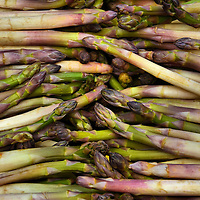 Asparagus at Outdoor Market in Annecy, France <br /> Whether your preference is for white or green asparagus, French asperge is delicious as a side dish, in soup, on a salad or enjoyed as the main entre.  It is extremely popular in Western Europe during the main growing season from late April through June.