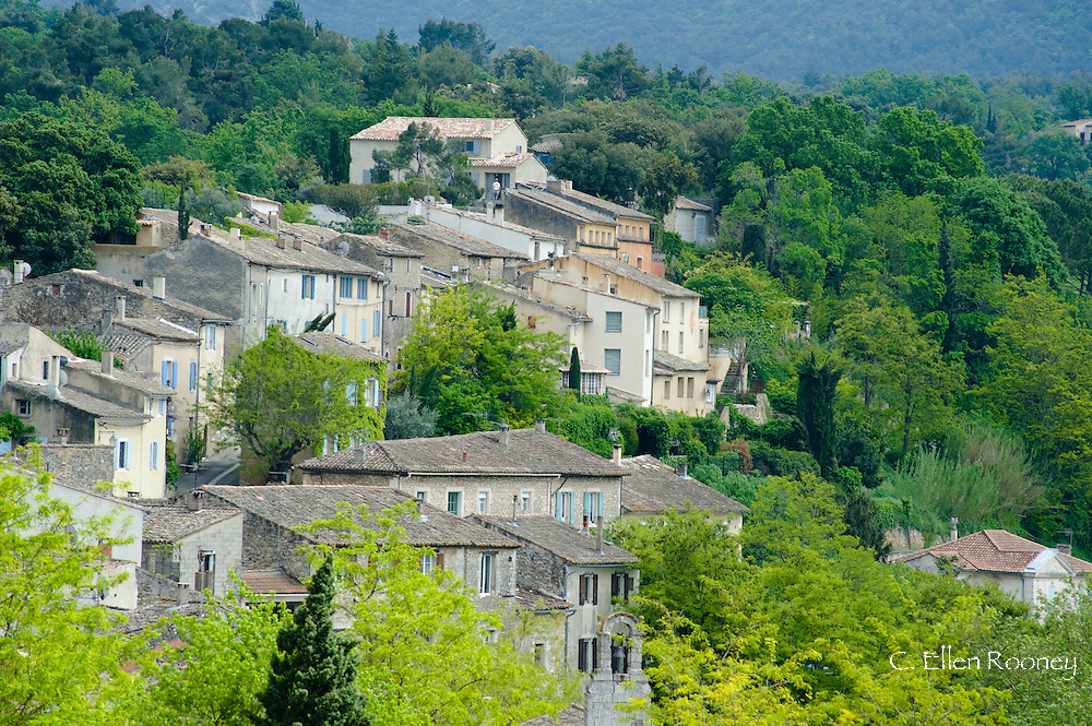 Traditional old stone houses in Menerbes, France