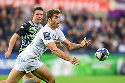 Clermont Auvergne's Damian Penaud in action  - Mandatory by-line: Craig Thomas/JMP - 15/10/2017 - RUGBY - Liberty Stadium - Swansea, Wales - Ospreys Rugby v Clermont Auvergne - European Rugby Champions Cup