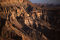 Sunset over Namibia's Fish River Canyon, second only in size to America's Grand Canyon. Namibia, southern Africa