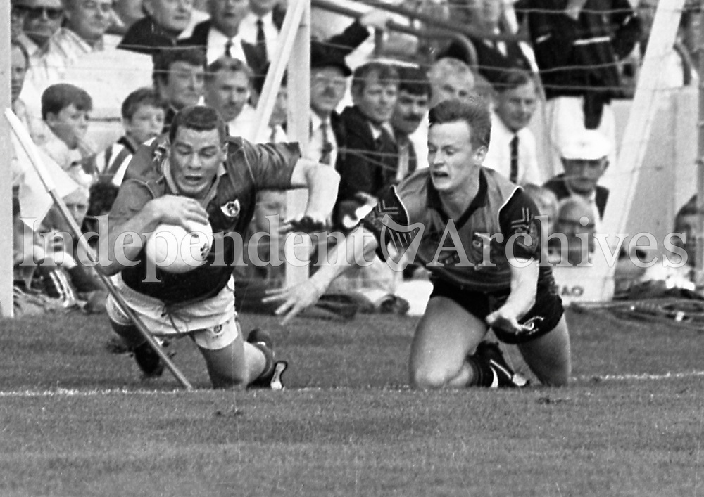 991-326 All-Ireland Final: Down 1-16 Meath 1-14.<br /> 15/9/91 Pic: Declan Cahill (Part of the Independent Newspapers Ireland/NLI Collection)