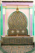 Fountain architecture, Moulay Idriss Zerhoun Medina, Middle Atlas, Morocco, 2016-06-14.
