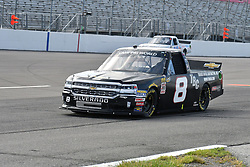 June 22, 2018 - Madison, Illinois, U.S. - MADISON, IL - JUNE 22:  John Hunter Nemechek (8) driving a Chevrolet warms up before  the Camping World Truck Series - Eaton 200 on June 22, 2018, at Gateway Motorsports Park, Madison, IL.   (Photo by Keith Gillett/Icon Sportswire) (Credit Image: © Keith Gillett/Icon SMI via ZUMA Press)