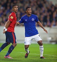 LILLE, FRANCE - Thursday, October 23, 2014: Everton's Samuel Eto'o in action against Lille OSC during the UEFA Europa League Group H match at Stade Pierre-Mauroy. (Pic by David Rawcliffe/Propaganda)
