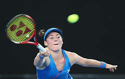MELBOURNE, Jan. 17, 2019  Tamara Zidansek of Slovenia returns the ball during the women's singles second round match against  Naomi Osaka of Japan at the Australian Open in Melbourne, Australia, Jan. 17, 2019. (Credit Image: © Bai Xuefei/Xinhua via ZUMA Wire)