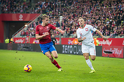 November 15, 2018 - Gdansk, Pomorze, Poland - Patrik Schick (19) Kamil Grosicki (11) during the international friendly soccer match between Poland and Czech Republic at Energa Stadium in Gdansk, Poland on 15 November 2018  (Credit Image: © Mateusz Wlodarczyk/NurPhoto via ZUMA Press)