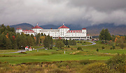 Mt Washington Hotel behind golf course.