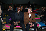 USAIN BOLT; JOCHEN ZEITZ; , Fundraising Gala for the Zeitz foundation and Zoological Society of London hosted by Usain Bolt. . London Zoo. Regent's Park. London. 22 November 2012.
