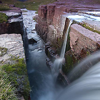 triple falls, glacier national park, waterfall summer sunrise, landscape vertical