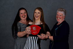 NEWPORT, WALES - Saturday, May 19, 2018: Lucy Farrell and family during the Football Association of Wales Under-16's Caps Presentation at the Celtic Manor Resort. (Pic by David Rawcliffe/Propaganda)