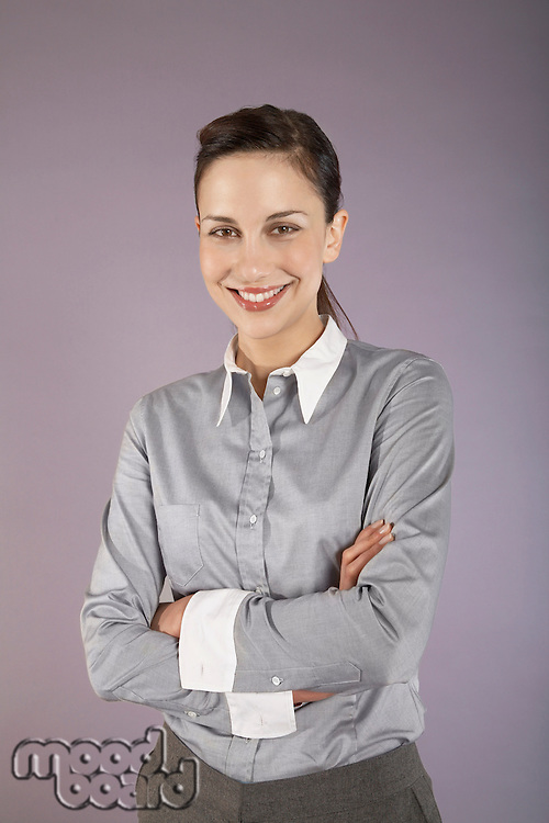 Businesswoman with arms crossed portrait