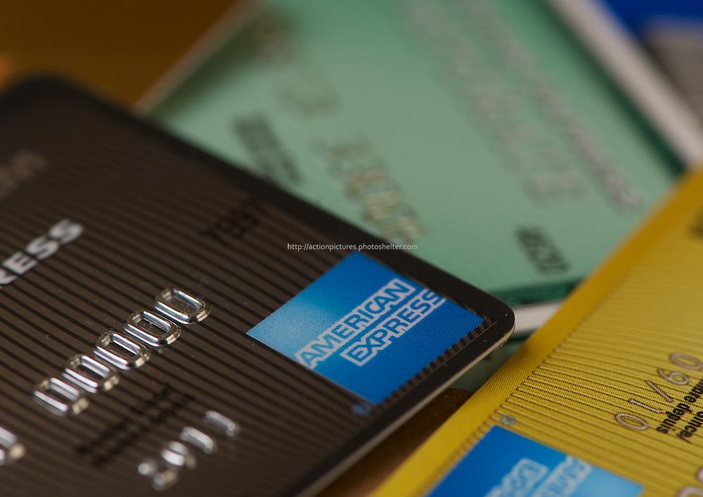credit cards close up