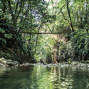 View of the river inside Finca Bellavista's property