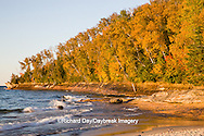 64745-00105 Miners Beach in fall at sunset Pictured Rocks National Lakeshore near Munising MI