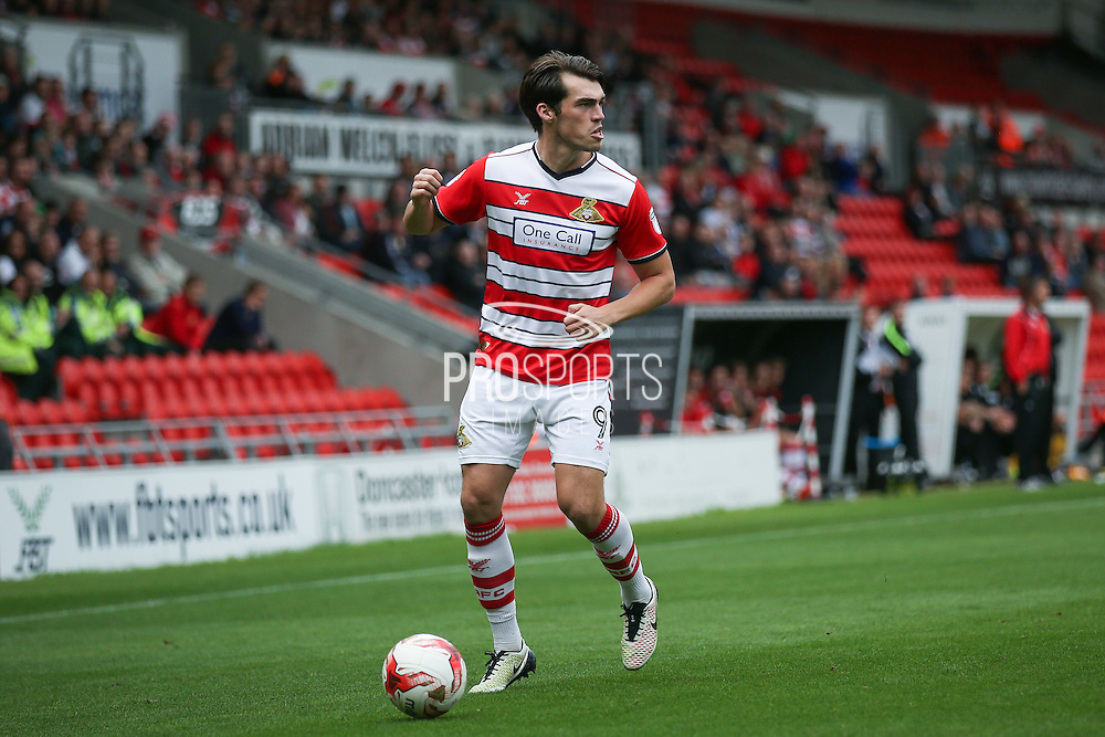 Doncaster Rovers forward John Marquis (9)  during the EFL Sky Bet League 2 match between Doncaster Rovers and Newport County at the Keepmoat Stadium, Doncaster, England on 17 September 2016. Photo by Simon Davies.
