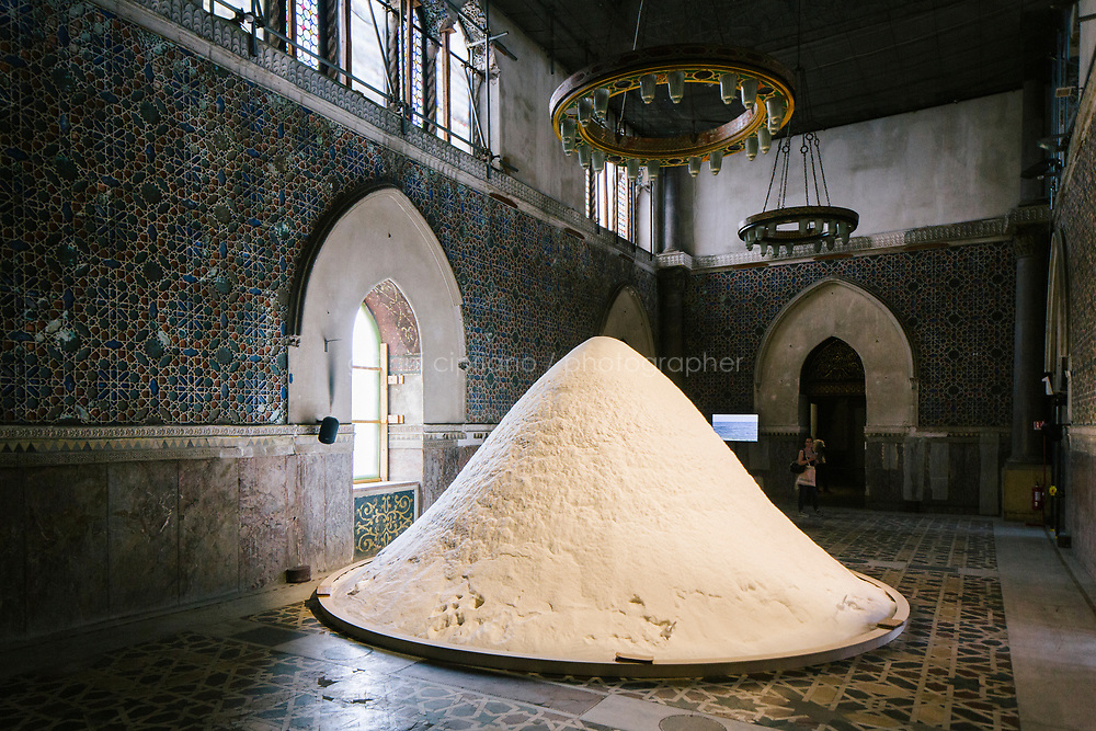PALERMO, ITALY - 15 JUNE 2018: &quot;The Soul of Salt&quot; (2016), an installation by artist Patricia Kaersenhout, is seen here at Palazzo Forcella De Seta during Manifesta 12, the European nomadic art biennal, in Palermo, Italy, on June 15th 2018.<br /> <br /> Manifesta is the European Nomadic Biennial, held in a different host city every two years. It is a major international art event, attracting visitors from all over the world. Manifesta was founded in Amsterdam in the early 1990s as a European biennial of contemporary art striving to enhance artistic and cultural exchanges after the end of Cold War. In the next decade, Manifesta will focus on evolving from an art exhibition into an interdisciplinary platform for social change, introducing holistic urban research and legacy-oriented programming as the core of its model.<br /> Manifesta is still run by its original founder, Dutch historian Hedwig Fijen, and managed by a permanent team of international specialists.<br /> <br /> The City of Palermo was important for Manifesta&rsquo;s selection board for its representation of two important themes that identify contemporary Europe: migration and climate change and how these issues impact our cities.